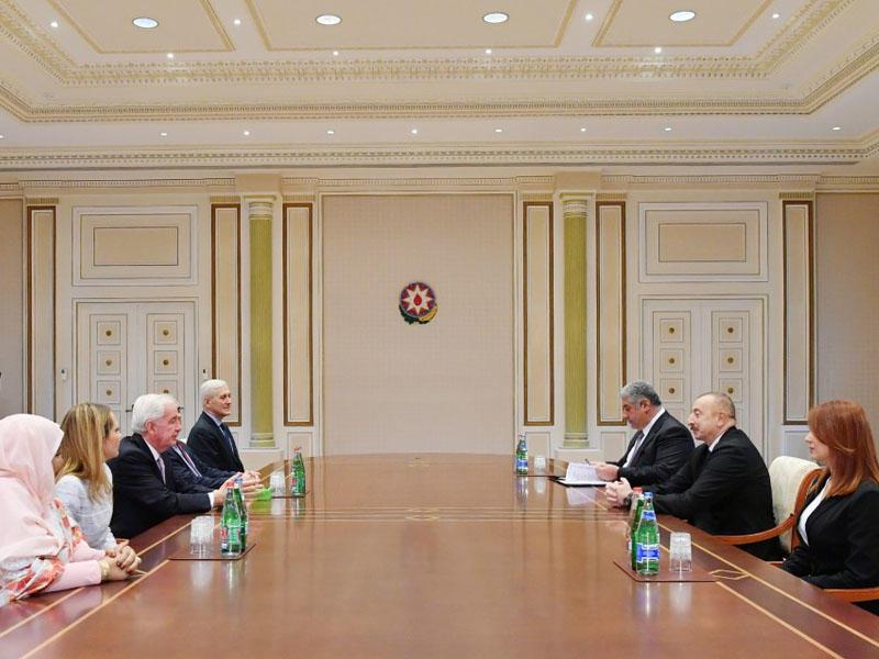 Prezident İlham Əliyev Ümumdünya Antidopinq Agentliyinin prezidentini qəbul edib