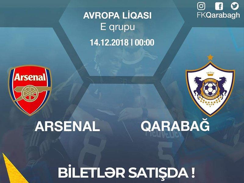 """""""Arsenal"""" - """"Qarabağ"""" matçının biletləri satışda!"""