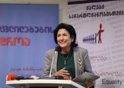 """""""Bəzi insanlar Gürcüstandakı birliyi pozmağa çalışırlar"""" - <span class=""""color_red"""">Salome Zurabişvili</span>"""