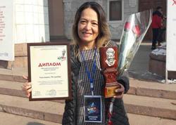 Mehriban Xanlarova Bişkekdə mükafat alıb - FOTO