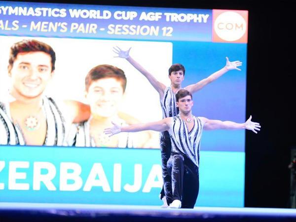"""Azərbaycan gimnastları """"gümüş"""" medal qazandılar"""