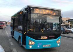 Bakıda yeni xəttə buraxılan avtobusda qəza - FOTO