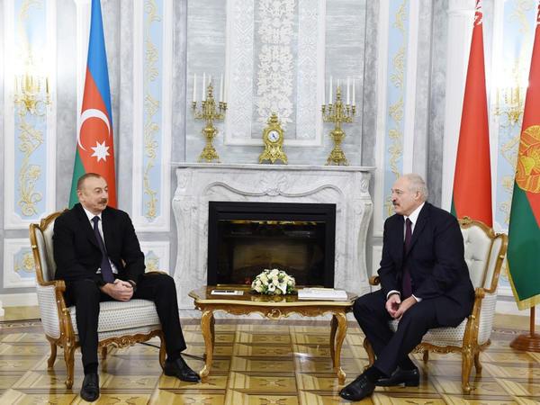 Prezident İlham Əliyev Belarusda rəsmi səfərdədir - YENİLƏNİB - FOTO