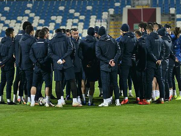 Yığmamız Kosovo ilə oyuna hazırdır - FOTO