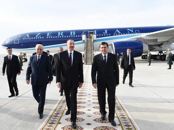 Prezident İlham Əliyev Türkmənistanda rəsmi səfərdədir - FOTO