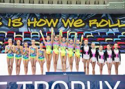 """Milli Gimnastika Arenasında 25-ci Azərbaycan birinciliyində qrup komandalarının mükafatlandırma mərasimi keçirilib - <span class=""""color_red"""">FOTO</span>"""