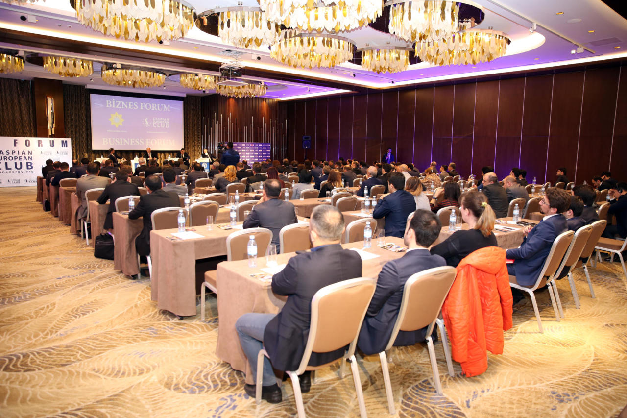 Caspian European Club və Dövlət Gömrük Komitəsi biznes-forum keçiridilər - FOTO