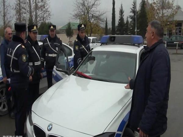 """Polis reyd keçirdi, <span class=""""color_red"""">100-dən çox sürücü saxlanıldı - FOTO</span>"""