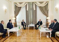 Prezident İlham Əliyev Beynəlxalq Şahmat Federasiyasının prezidentini qəbul edib - FOTO