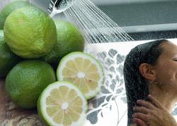 """Yaşıl limonun bilmədiyiniz FAYDALARI: <span class=""""color_red"""">Duş qəbul edərkən... </span>"""