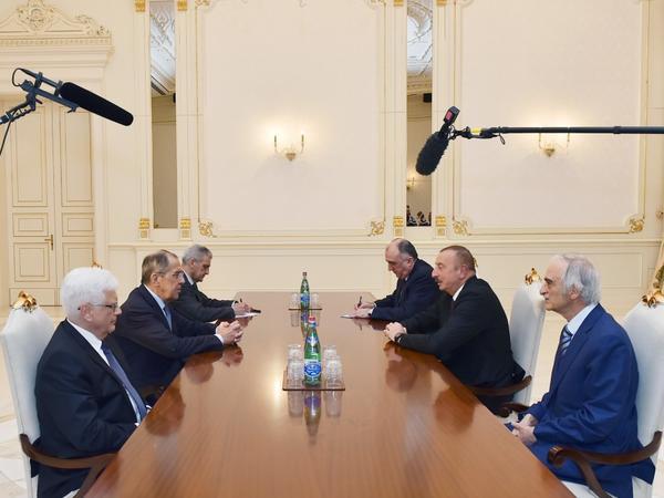 Prezident İlham Əliyev Rusiyanın xarici işlər nazirini qəbul edib - FOTO