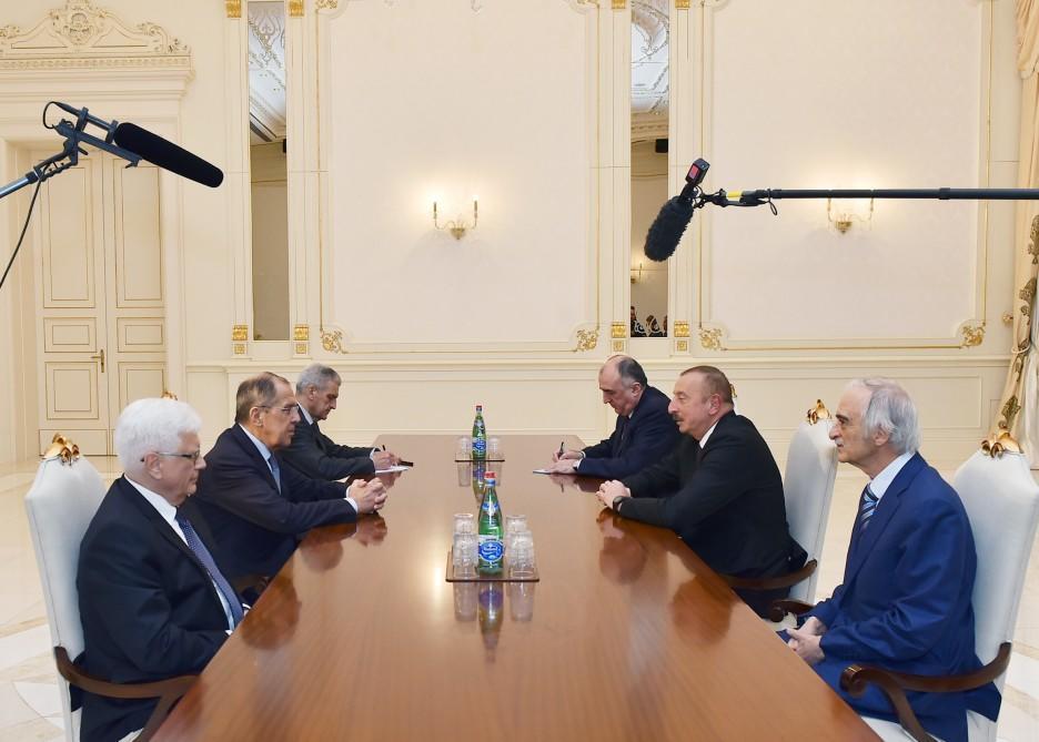 Prezident İlham Əliyev Rusiyanın xarici işlər nazirini qəbul edib