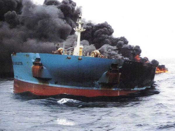 Yük gəmisində baş verən yanğın söndürüldü