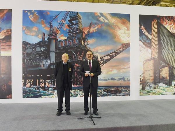 Bakı Ekspo Mərkəzində dünya şöhrətli rəssam Tahir Salahovun 90 illik yubileyinə həsr edilən sərgi açılıb - FOTO