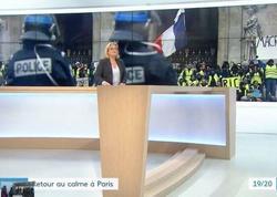 """""""France 3"""" telekanalı """"sarı jiletlilər""""in aksiyasının yayımını təhrif etməkdə günahlandırılır - FOTO"""