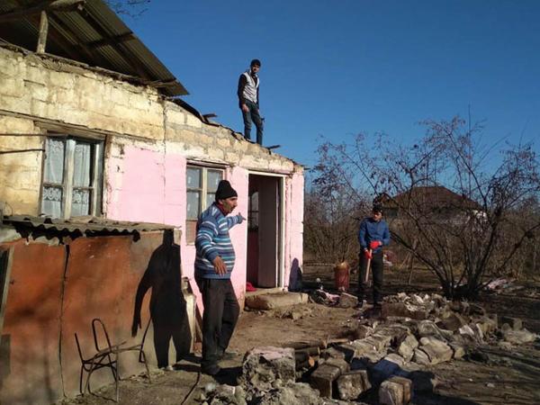 Ermənilərin ziyan vurduğu 121 evin bərpasına başlanılıb - FOTO