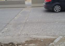 """""""Bir aydan sonra asfalt çökdü…"""" - FOTO"""