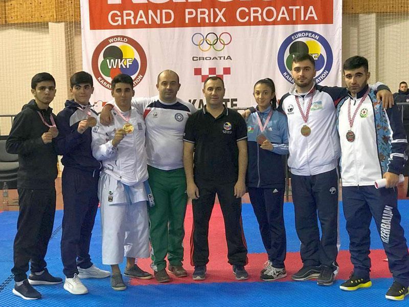 Karateçilərimiz Qran Pri turnirini 10 medalla başa vurdu -