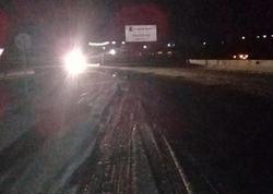 Bakı-Şamaxı-Yevlax yolu buz bağladı - FOTO