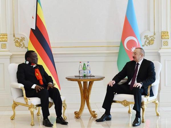 """Prezident İlham Əliyev: """"Zimbabve Prezidentinin Azərbaycana səfəri tərəfdaşlığımızın gücləndirilməsi üçün imkanlar yaradacaq"""""""