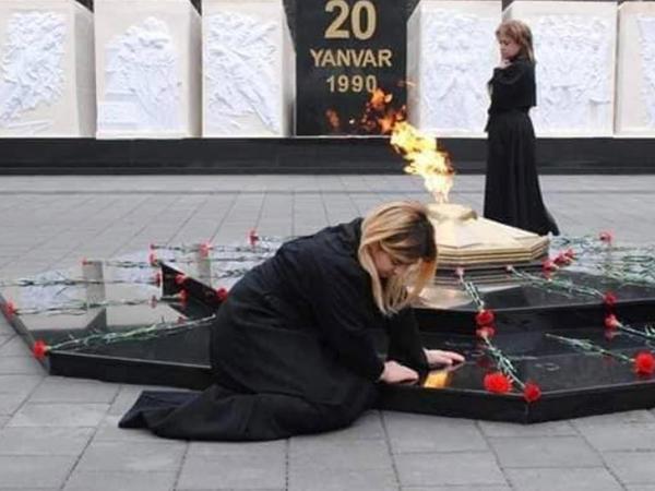Mingəçevirdə 20 yanvar şəhidlərinin xatirəsi anılıb - FOTO
