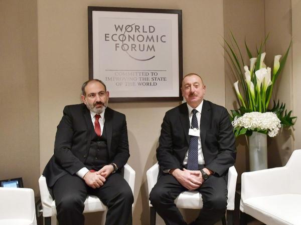 Prezident İlham Əliyevin və Ermənistanın baş naziri Nikol Paşinyanın Davosda qeyri-rəsmi görüşü olub
