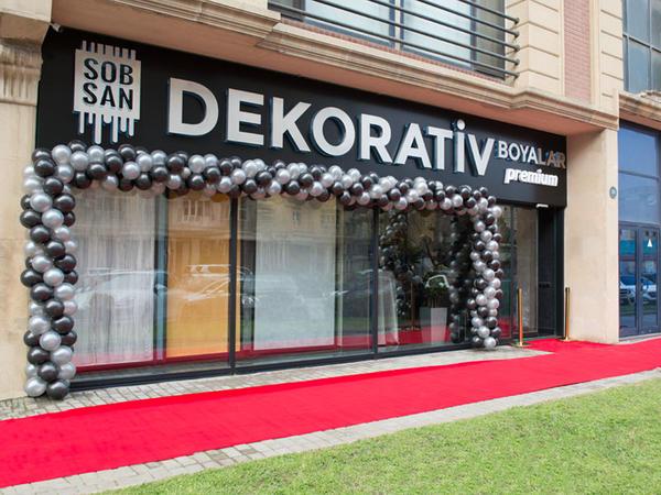 Bakıda Sobsan Boyalarının Dekorativ Premium mağazasının açılışı oldu