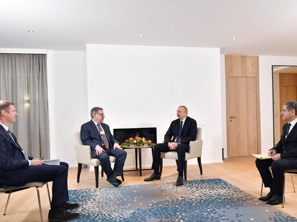 """Prezident İlham Əliyevin """"The Boston Consulting Group"""" şirkətinin prezidenti ilə görüşü olub - FOTO"""