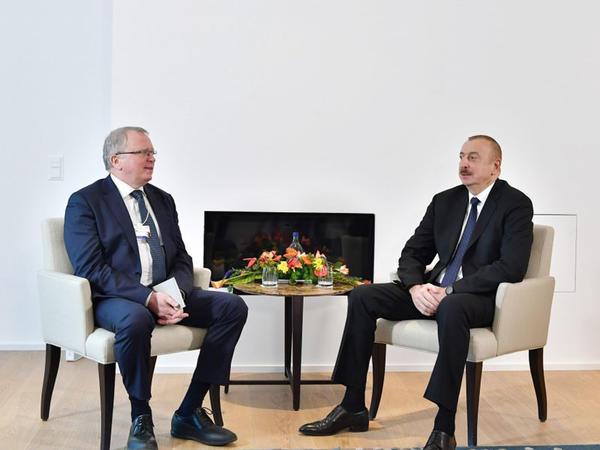 """Prezident İlham Əliyev """"Equinor"""" şirkətinin baş icraçı direktoru ilə görüşüb - FOTO"""