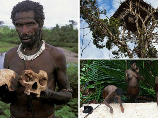"""Papua Yeni Qvineyanın adamyeyən qəbiləsi - <span class=""""color_red"""">FOTO</span>"""