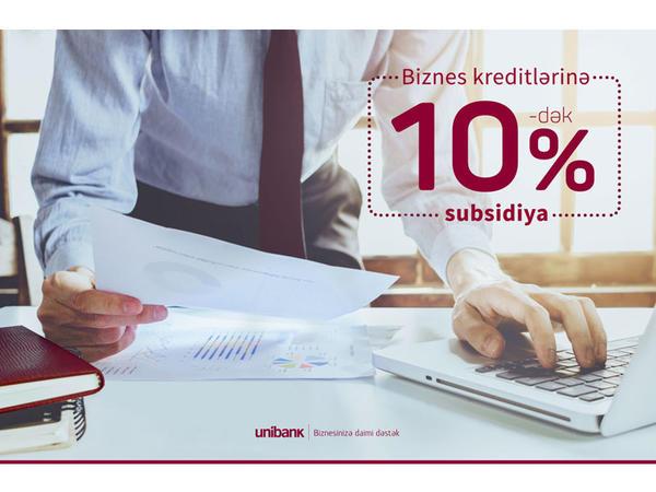 Biznes kreditini Unibankdan al, faizlərin 10%-dək hissəsini İpoteka və Kredit Zəmanət Fondu ödəsin!