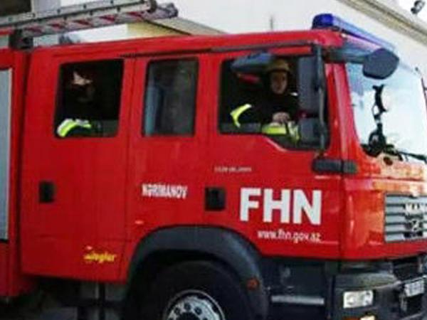 FHN Bakıda yanan ticarət mərkəzi ilə bağlı məlumat yaydı