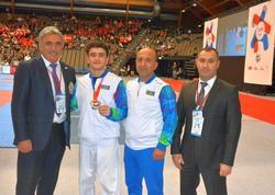 """Gənc karateçilərimiz daha bir qızıl medal qazanıb - <span class=""""color_red"""">FOTO</span>"""