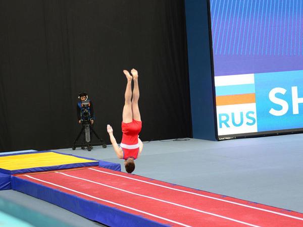 Bakıda batut gimnastikası və tamblinq üzrə ilin ilk Dünya Kuboku keçirilir - FOTO