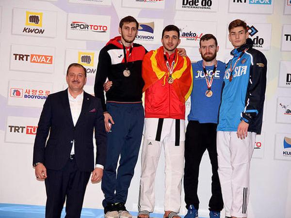 Olimpiya çempionumuz Antalyada gümüş medal qazandı – FOTO