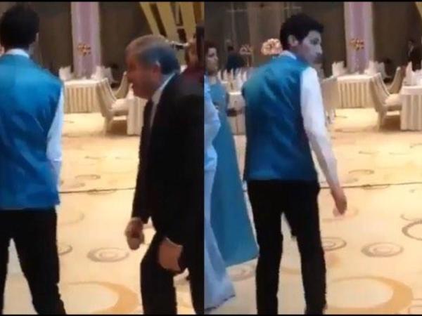 Yusif Mustafayev toyda ofisiantı qorxutdu - VİDEO