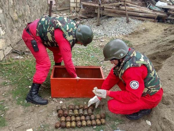 """139 ədəd hərbi sursat aşkarlanıb - <span class=""""color_red"""">Ağstafada əməliyyat - FOTO</span>"""