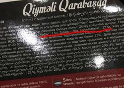 Bakıda satılan hazır yeməyin paketində yanlışlıq - FOTO
