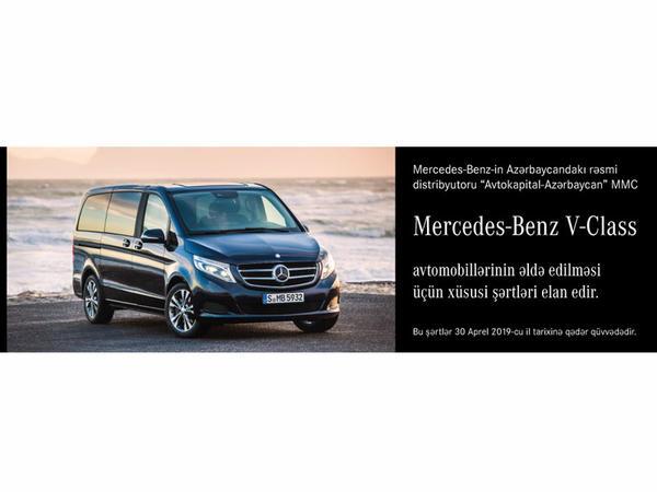 """Mercedes-Benz V-Class - <span class=""""color_red"""">Xüsusi seriya, Xüsusi təchizat, Xüsusi şərtlər</span>"""