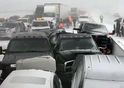 Kanadada 70 avtomobilin iştirakı ilə qəza baş verib - VİDEO - FOTO