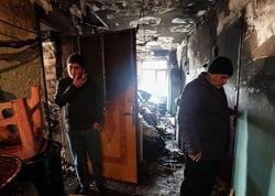Bakıda yanğın nəticəsində evsiz qalan 34 məcburi köçkünə kirayə pulu verilib