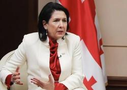 """Gürcüstan prezidenti Yerevanda Ermənistanı <span class=""""color_red"""">Azərbaycan torpaqlarının işğalında ittiham etdi</span>"""