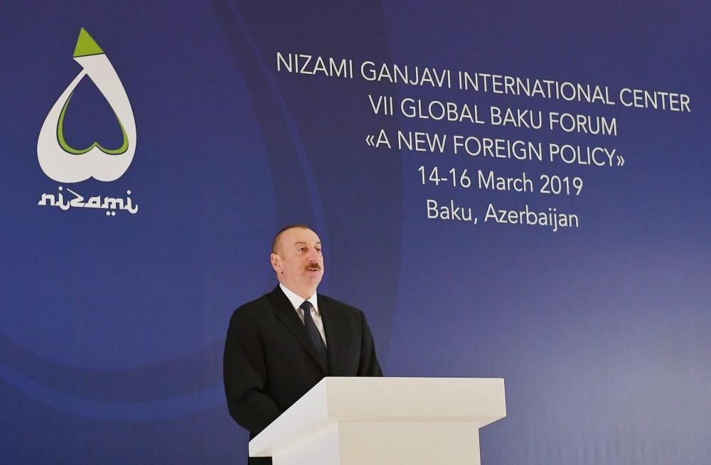 Prezident Ä°lham Æliyev VII Qlobal Bakı Forumunun açılıÅında iÅtirak edib - YENÄ°LÆNÄ°B - FOTO