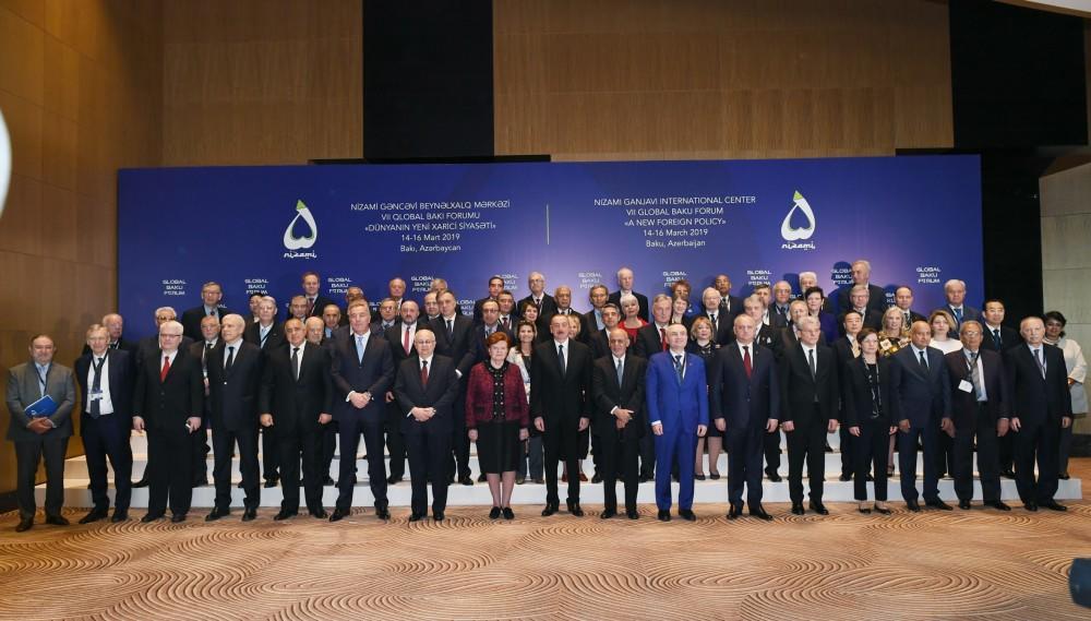 Prezident İlham Əliyev VII Qlobal Bakı Forumunun açılışında iştirak edir - FOTO