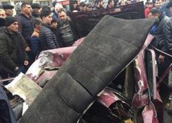 """Bakıda avtobus dəhşətli qəza törətdi: <span class=""""color_red"""">2 nəfər yaralanıb - YENİLƏNİB - VİDEO - FOTO</span>"""
