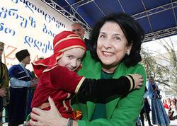 """Zurabişvili Novruz şənliyində - <span class=""""color_red"""">""""Rus dili bizi birləşdirmir"""" - FOTO</span>"""