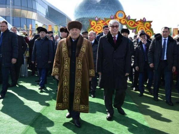Nazarbayev Novruz bayramına qatıldı - FOTO