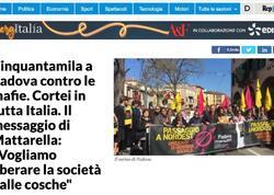 İtaliyada minlərlə insan mafiya ilə mübarizə aksiyasında iştirak edib
