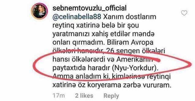 """""""Bilirəm, Amerikanın paytaxtı Nyu-Yorkdur"""" - Şəbnəm yenə biabır oldu - FOTO"""