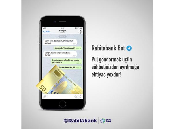 Rabitabank Botun yeni imkanı ilə pul göndərmək bu qədər rahat olmamışdı!